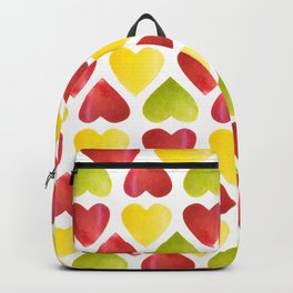 Apple colorful hearts pattern Backpack