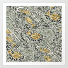 mosaic fish Art Print