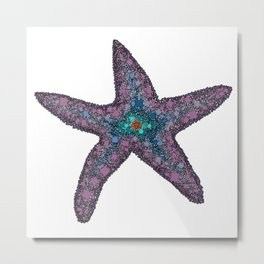 Sandy the Seastar - Abstract Starfish Metal Print