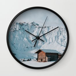 Hello Winter - Landscape and Nature Photography Wall Clock