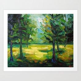 Sun on Trees Art Print