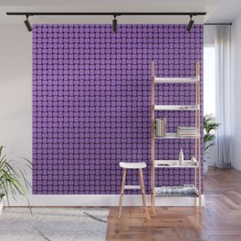 checks friendly purple with dark edge Wall Mural
