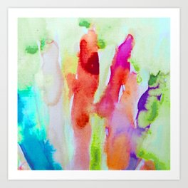 Abstract Blurs Art Print