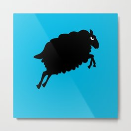 Angry Animals: Sheep Metal Print