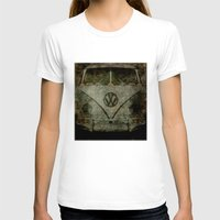 vw bus T-shirts featuring VW Zombiemobile - A killer Zombie bus by Bruce Stanfield