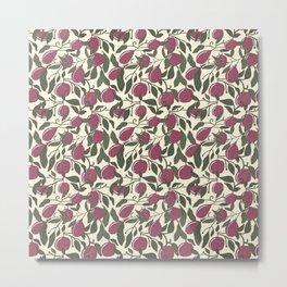 Plum Tree | Lemon Tree | | Lemon & Leaf Seamless Pattern Metal Print