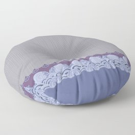 Layered Scallops and Waves Floor Pillow