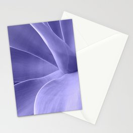 Periwinkle Succulent Stationery Cards