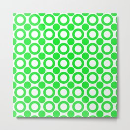 Dot 2 Green Metal Print