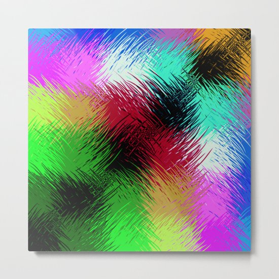 Interaction Of Colour Metal Print