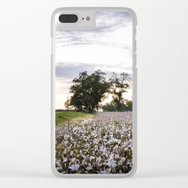 Cotton Field 9 Clear iPhone Case