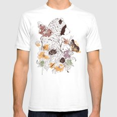 Northern Bear White Mens Fitted Tee SMALL
