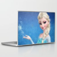 frozen elsa Laptop & iPad Skins featuring Elsa - Frozen by lauramaahs