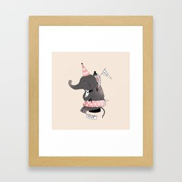 Circus is not funny for animals Framed Art Print