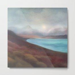 Minimal abstract landscape IV Metal Print
