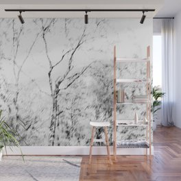Black and white tree photography - Watercolor series #1 Wall Mural