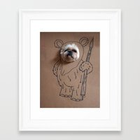 ewok Framed Art Prints featuring Ch-ewok by Fran Ann Gallery