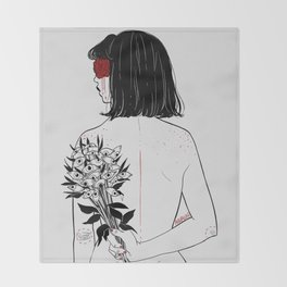 When her petals fall, they hit like bullets. Throw Blanket