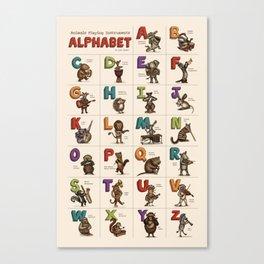 Animals & Instruments Alphabet Canvas Print