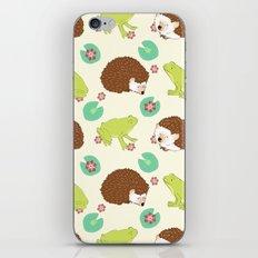 Hedgehog and Frog iPhone & iPod Skin