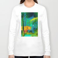 panther Long Sleeve T-shirts featuring Panther by Nato Gomes