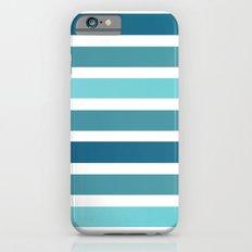 Aqua Stripes iPhone 6s Slim Case