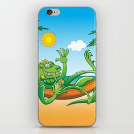 Lazy Iguana Summer on the Beach iPhone Skin