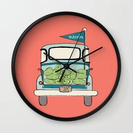 Watermelon Truck on Pink Wall Clock