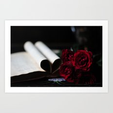 my love is like a red, red rose Art Print