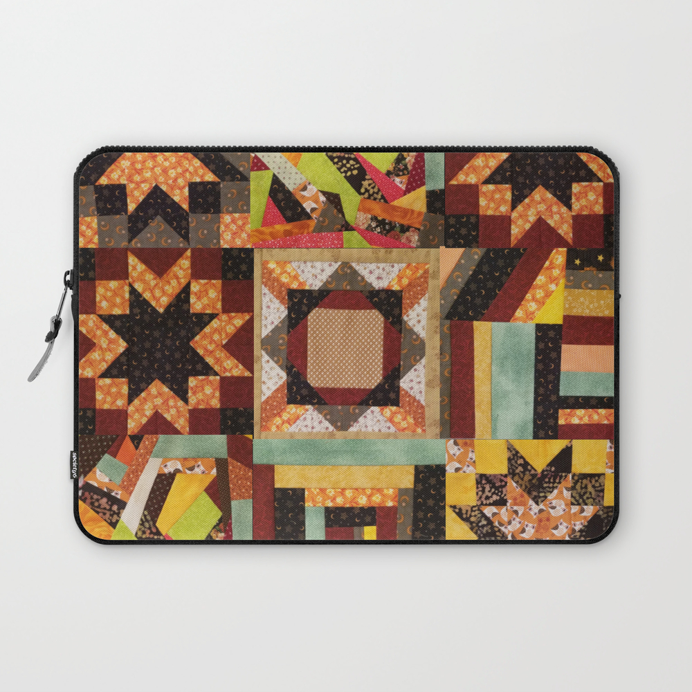 Quilt, Fall Colored Quilt Pattern Laptop Sleeve LSV8898530