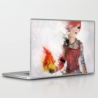 borderlands Laptop & iPad Skins featuring Lilith by Melissa Smith