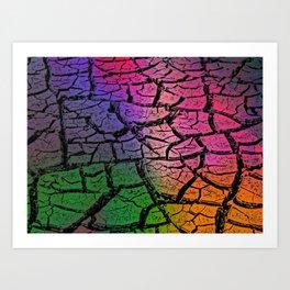 Crackin Colors Art Print