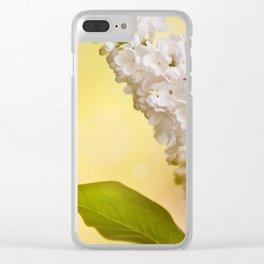 White Syringa vulgaris or lilac Clear iPhone Case