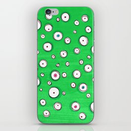 All Eyes on You - Green iPhone Skin