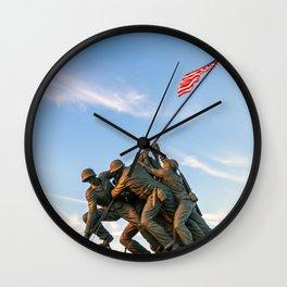 Iwo Jima Monument. Harlingen, TX Wall Clock