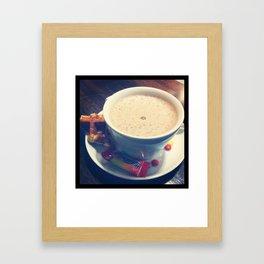 Café avec sucre Framed Art Print