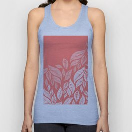 LIVING CORAL LEAVES Unisex Tank Top