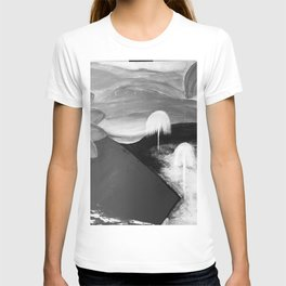 Abstract Flowers. Black and White. Flowers. Mountains. Landscape T-shirt