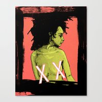 the xx Canvas Prints featuring XX by Chris Jalufka