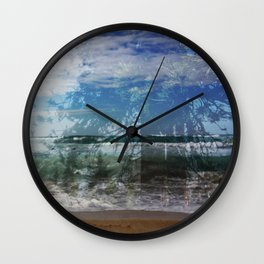 Ocean Meets The Forest Wall Clock