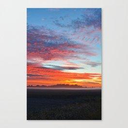 Fog Over The Fields Canvas Print