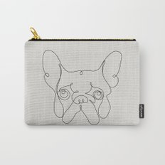 One Line French bulldog Carry-All Pouch