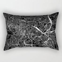 Rome Black Map Rectangular Pillow