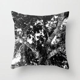 Mad tree Throw Pillow