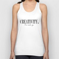 creativity Tank Tops featuring CREATIVITY. by The LOL Project