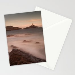Mumbles lighthouse Swansea Stationery Cards