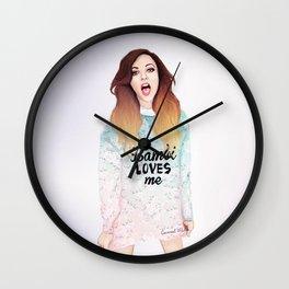 Jade loves Bamby Wall Clock