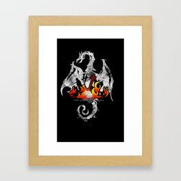 Now Only Ashes Remain Framed Art Print