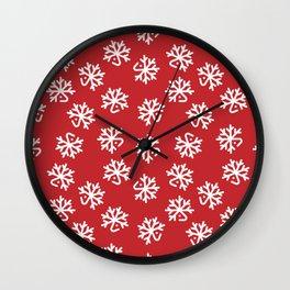 Christmas White Deers Wall Clock