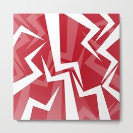 Lightning Series - Red Metal Print